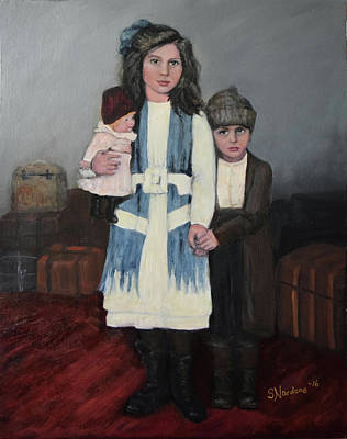 Painting - Big Sister And Little Brother by Sandra Nardone