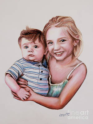 Drawing - Big Sister by Dave Luebbert