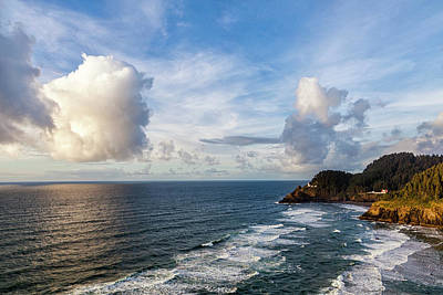 Photograph - Big Skies Over The Oregon Coast by Andrew Soundarajan