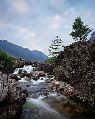 Photograph - Big Skies Over The River Coe by Stephen Taylor