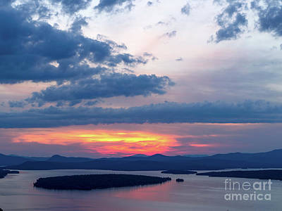 Photograph - Big Sky Above Mooselookmeguntic Lake, Rangeley, Me  -63433-v2 by John Bald