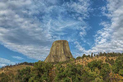 Photograph - Big Sky At Devils Tower by John M Bailey