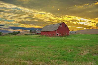 Photograph - big sky country barn Montana by Randall Branham