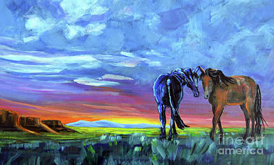 Mustang Painting - Big Sky Country by Harriet Peck Taylor