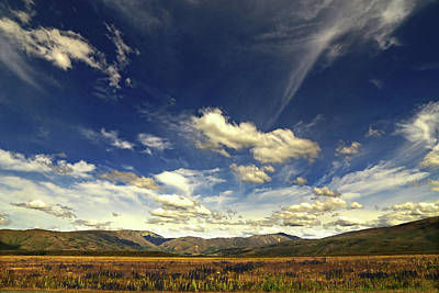 Photograph - Big Sky Near Omarama Otago by Nareeta Martin
