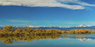 Photograph - Big Sky Rocky Mountain Autumn Panorama by James BO Insogna