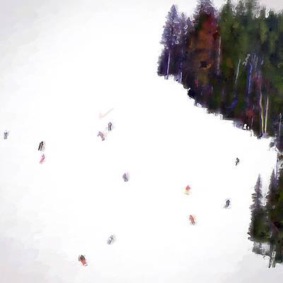 Big Sky Ski Art Print