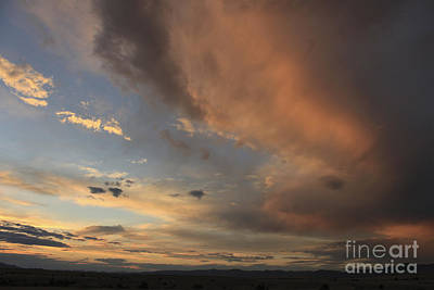 Food And Flowers Still Life Rights Managed Images - Big Sky Sunset 2 Royalty-Free Image by Carolyn Brown