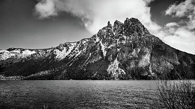 Photograph - Big Snowy Mountain In Black And White by Eduardo Jose Accorinti