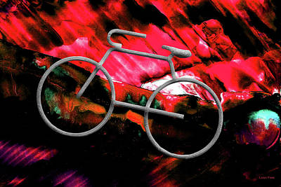 Mixed Media - Big Spring Bike Red by Lesa Fine
