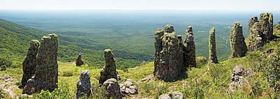 Big Standing Monolitic Rocks At Serrania De Chiquitania Art Print by Dirk Ercken