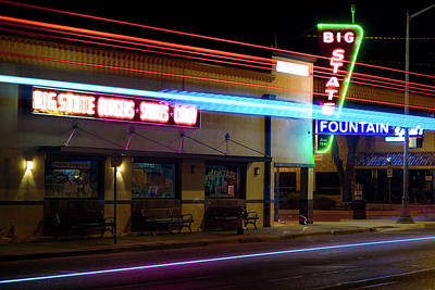 Photograph - Big State Neon 090116 by Rospotte Photography