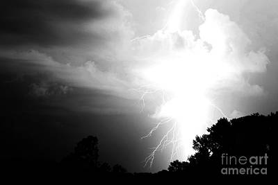 Lightning Digital Art - Big Strike by Amanda Barcon