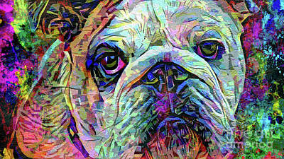 English Bulldog Painting - Big Stuff by Jon Neidert