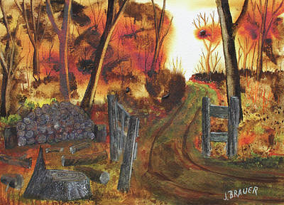Painting - Big Stump Trail by Jack G Brauer