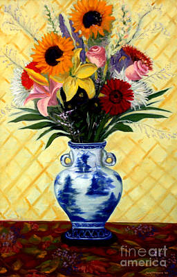 Big Sunflower Bouquet Original by Jane  Simonson