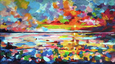 Painting - Big Sunrise by Kovacs Anna Brigitta