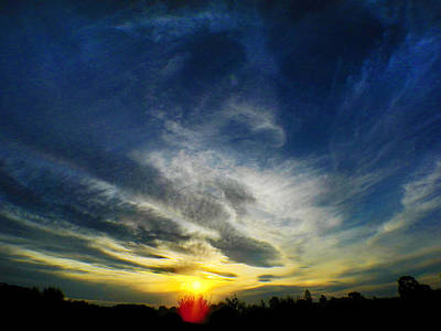 Photograph - Big Sunset by Mark Blauhoefer