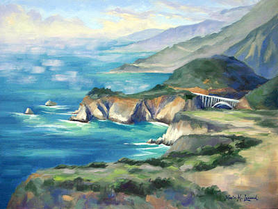 Iconic Painting - Big Sur Autumn by Karin  Leonard