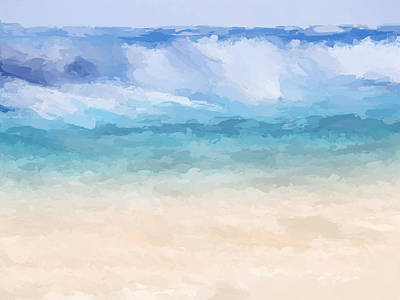 Mixed Media - Big Sur Beach Wave by Anthony Fishburne