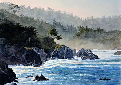 Painting - Big Sur by Bill Hudson