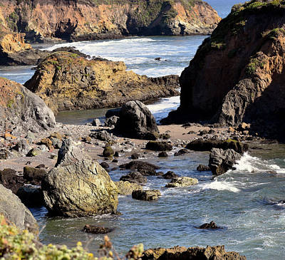 Photograph - Big Sur Cave Square by Barbara Snyder