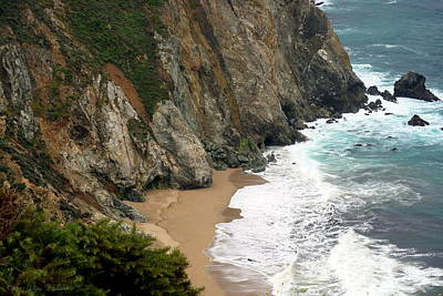 Photograph - Big Sur Cliffs by Joyce Dickens