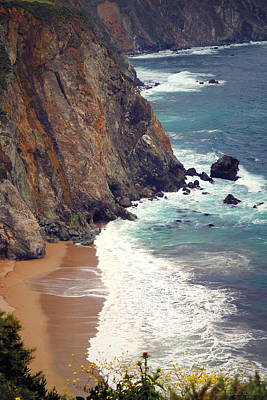 Photograph - Big Sur Cliffs Two by Joyce Dickens