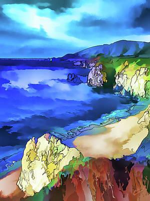Digitally Manipulated Digital Art - Big Sur Coast by ABeautifulSky Photography by Bill Caldwell