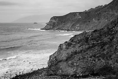 Photograph - Big Sur Coast II Bw  by David Gordon