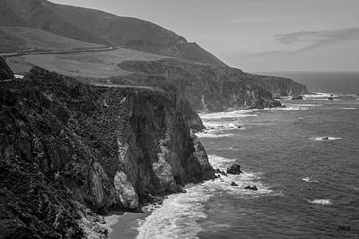 Photograph - Big Sur Coast IIi Bw  by David Gordon