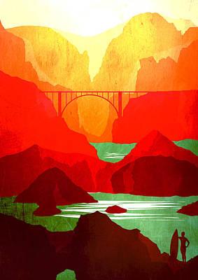Big Sur Coastline Abstract Landscape 2 - By Diana Van Art Print by Diana Van