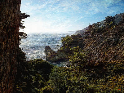 Park Scene Digital Art - Big Sur Coastline by Glenn McCarthy Art and Photography