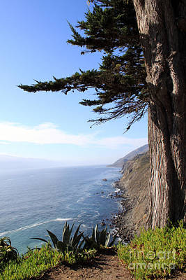 Heavens Photograph - Big Sur Coastline by Linda Woods