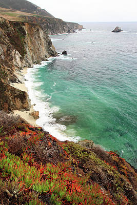 Photograph - Big Sur Colorful Coastline by Pierre Leclerc Photography
