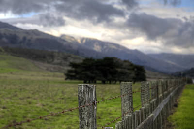 Photograph - Big Sur Fence Line by Robert Melvin