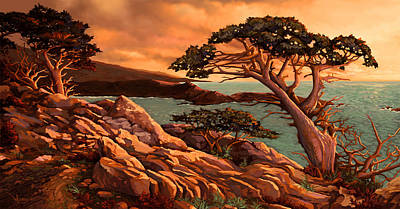 Painting - Big Sur by Hans Neuhart