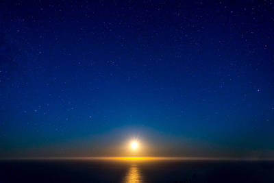 Photograph - Big Sur Moonset by Derek Dean