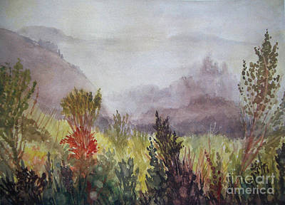 Painting - Big Sur Morning Mist by Kathryn Donatelli