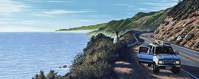 Pacific Coast Highway Painting - Big Sur Roadtrip by Andrew Palmer