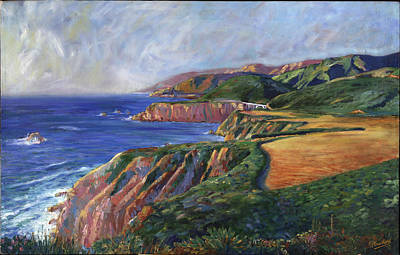 Painting - Big Sur Splendor by Philippe Plouchart