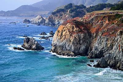 Rincon Mountains Wall Art - Photograph - Big Sur Vista Waves by Rincon Road Photography By Ben Petersen