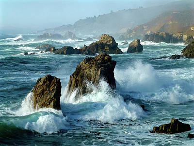 Photograph - Big Sur Winter Wave Action by Amelia Racca