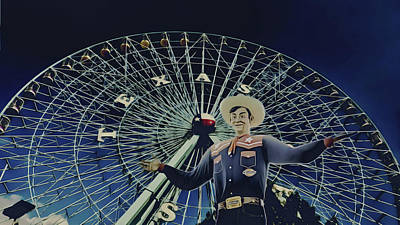 Photograph - Big Tex N The Texas Star by Philip A Swiderski Jr