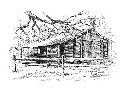 Drawing - Big Thicket Information Center by Randy Welborn
