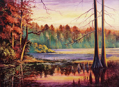 Painting - Big Thicket Swamp by Randy Welborn