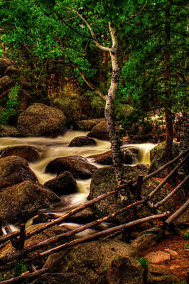 Photograph - Big Thompson River In Rocky Mountain National Park by Roger Passman