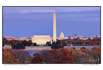 Gregory Ohanlon Photograph - Big Three- Washington Dc- Autumn by Gregory O'Hanlon