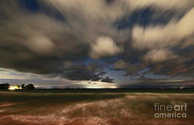 Photograph - Big Tide Under Moving Clouds by Charline Xia