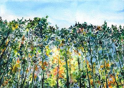 Landscape Painting - Big Too Much Pines Early Fall by Andrew Claflin